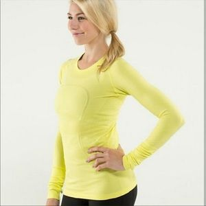 Lululemon Swiftly Tech Long Sleeve Yellow
